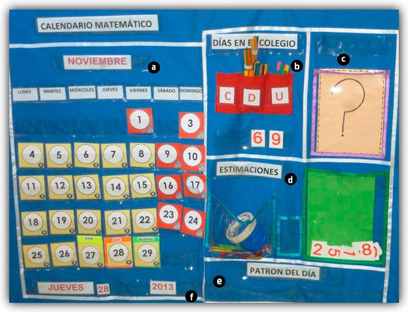 Calendario Para Ninos De Kinder.Calendario Matematico Para Trabajar Conceptos Numericos En